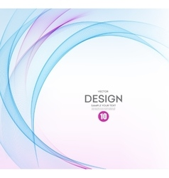 Abstract background blue and purple wavy vector
