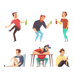 Addiction alcoholic addict peoples alcoholism vector