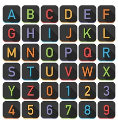 alphabet tile set vector image