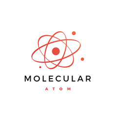 atom molecular logo icon vector image