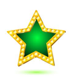 Banner green star frame vector