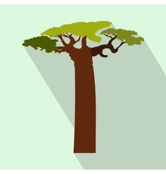 Baobab tree icon flat style vector
