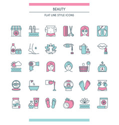Beaty salon icons vector