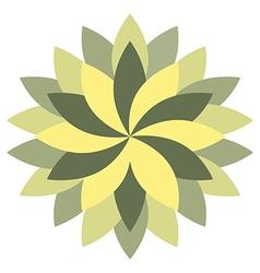 Beautiful Lotus Flower Wheel Mandala Oriental vector image