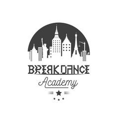 Break dance logotype vector