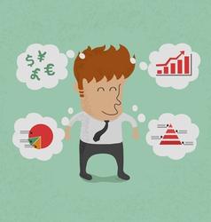 BusinessmanThinkGraph vector