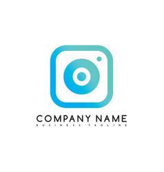camera photography brand company template logo vector image