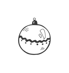 christmas symbol doodle vector image