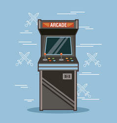 Classic arcade game machine rendering vector