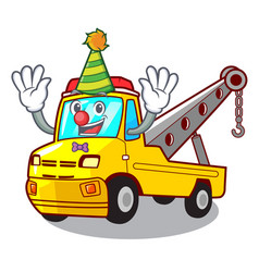 Clown tow truck for vehicle branding character vector