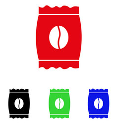 Coffee bean pack icon vector
