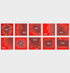 Collection 10 backgrounds with red gradient vector