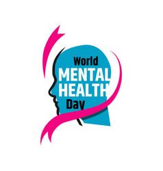 colorful design world mental health day banner vector image