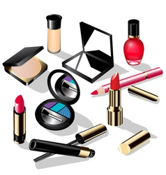 Cosmetics Set vector image