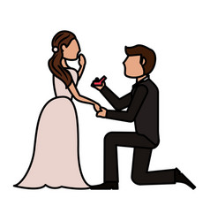 Couple wedding love image vector