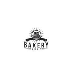 cupcake bakery logo vector image