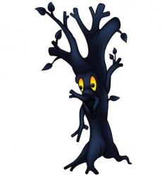 dark tree vector image