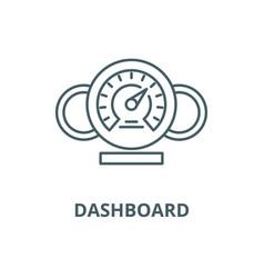 Dashboard line icon linear concept vector