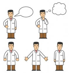 Doctor character set vector
