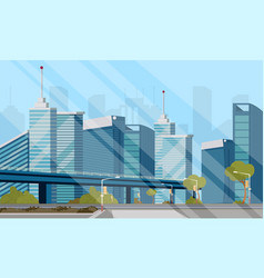 drawing image of the city landscape vector image