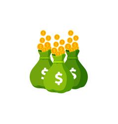 Earn money logo icon design sack money icon vector
