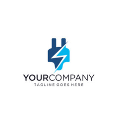Electrical plugs for logo design editable vector