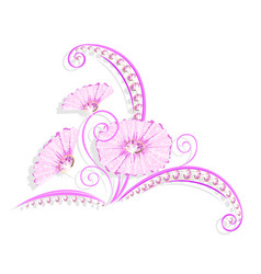 flower decoration with jewelry design vector image