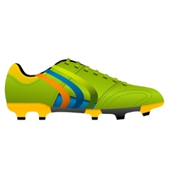 football soccer boot vector image