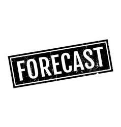 Forecast rubber stamp vector