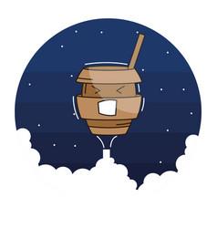 Funny stylish coffee character vector