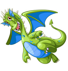 green dragon on white background vector image