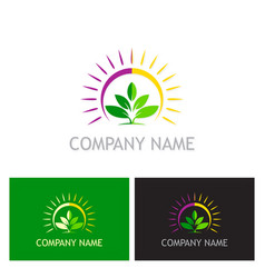 green leaf plant nature logo vector image