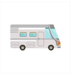 Grey Stripy Travel Van vector image
