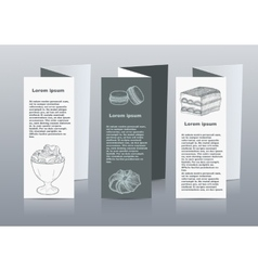 Handdrawn menu for cafe coffee house vector image