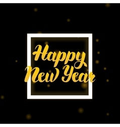 Happy New Year Lettering Design vector image