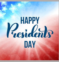 Happy presidents day in usa card template poster vector
