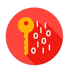 key binary code circle icon vector image