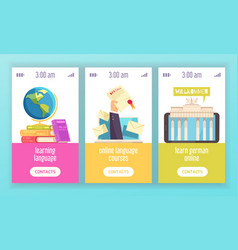 Language training center banners vector