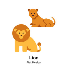 Lion flat icon vector