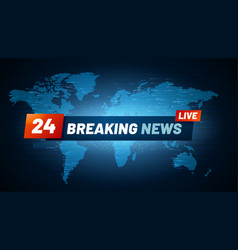 Live breaking news background streaming internet vector