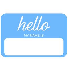 Name tag eps vector