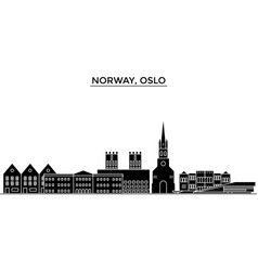 Norway oslo architecture city skyline vector