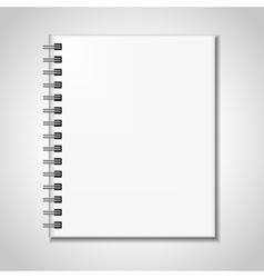 Notebook mock up vector