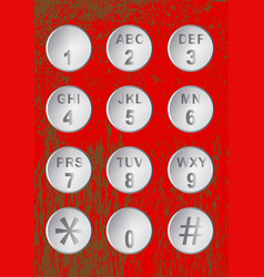 Numerical code buttons vector