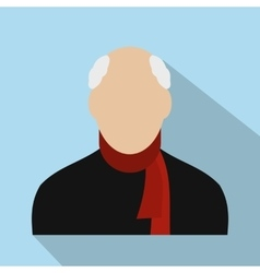 Old man avatar icon vector