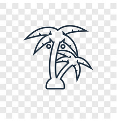 palm tree concept linear icon isolated on vector image