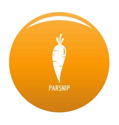 parsnip icon orange vector image