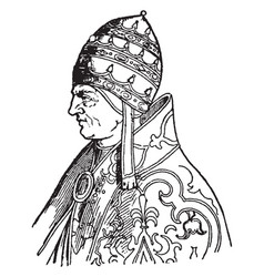 Pope urban v vintage vector