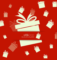 Ribbon in the form of gift vector image