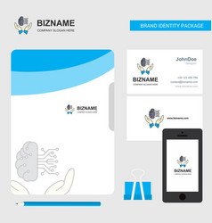 safe cloud business logo file cover visiting card vector image